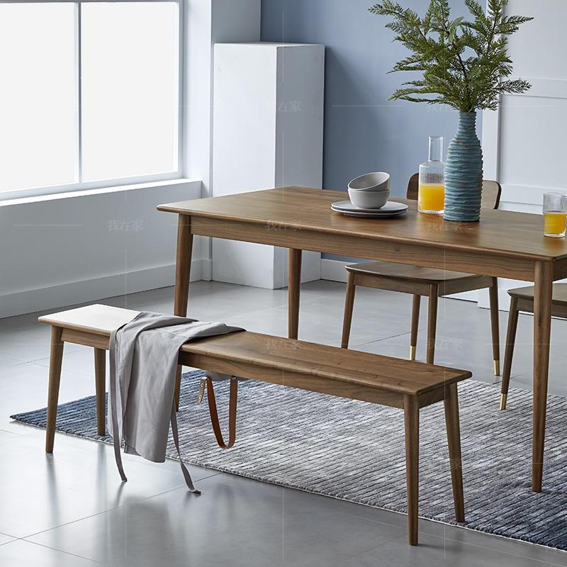 原木北欧风格自在长条凳(样品特惠)