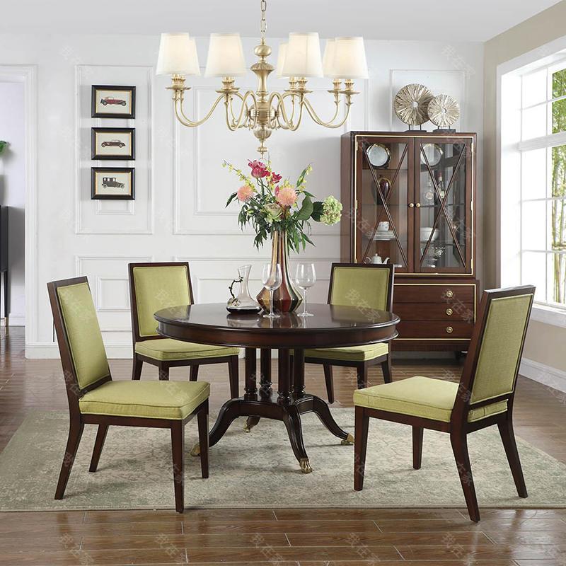 现代美式风格巴尔博亚圆餐桌