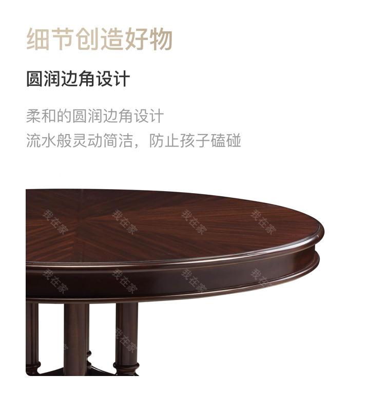 现代美式风格巴尔博亚圆餐桌的家具详细介绍