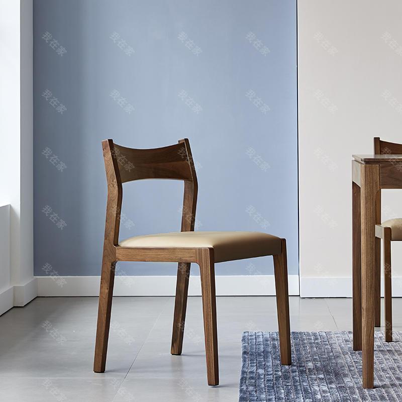 原木北欧风格光阴餐椅(2把)