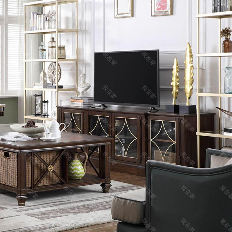 现代美式风格林肯电视柜