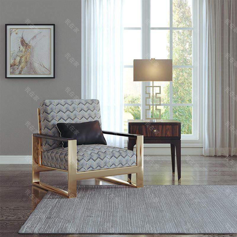 现代美式风格西西里单椅