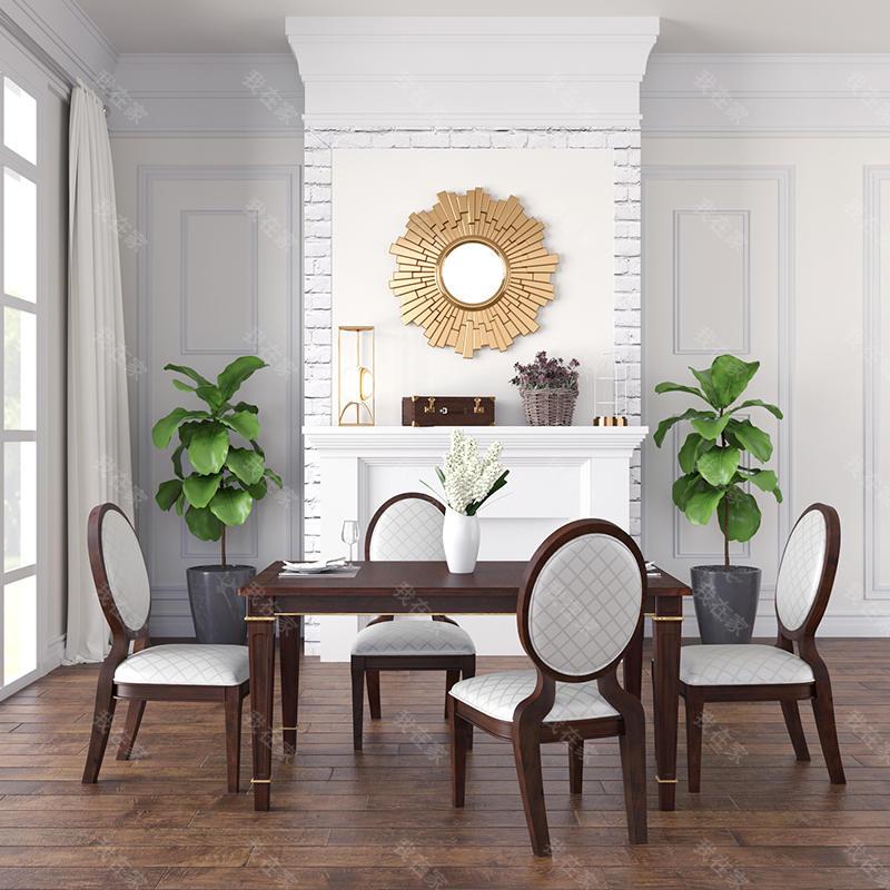 现代美式风格林肯长餐桌