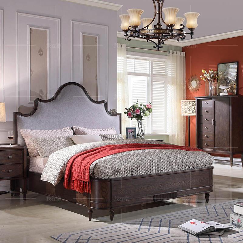 现代美式风格威尼亚布艺床