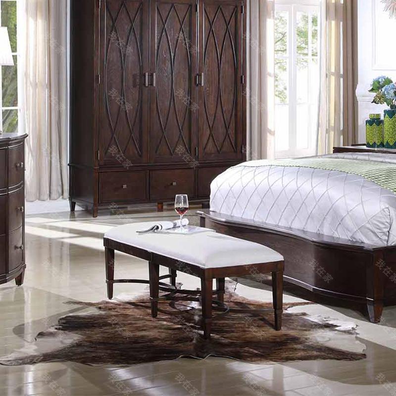 现代美式风格威尼亚床尾凳
