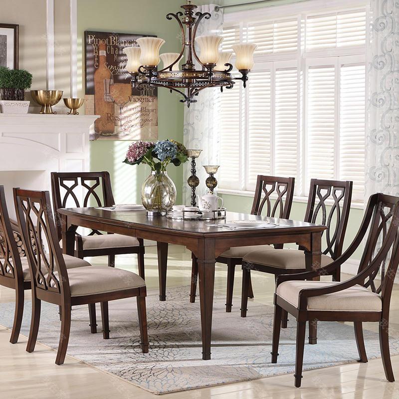 现代美式风格威尼亚长餐桌