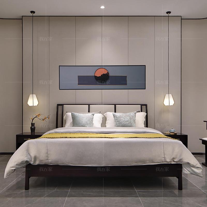 新中式风格锦里双人床