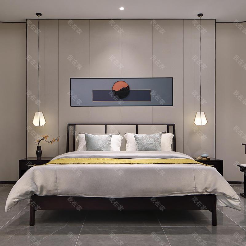 新中式风格漠烟双人床