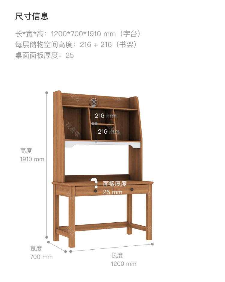 美式儿童风格美式-巴泽尔组合书桌的家具详细介绍