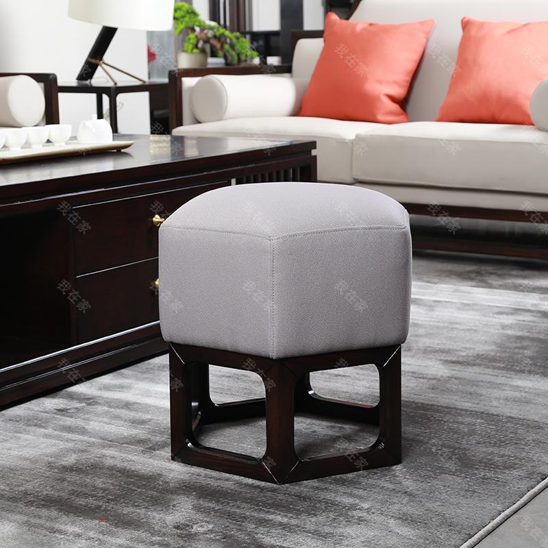 新中式风格万物六角凳