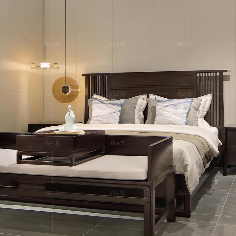 新中式风格尔雅双人床