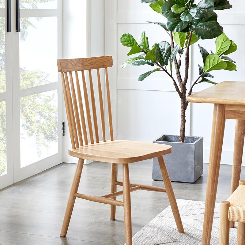 原木北欧风格马尔默餐椅