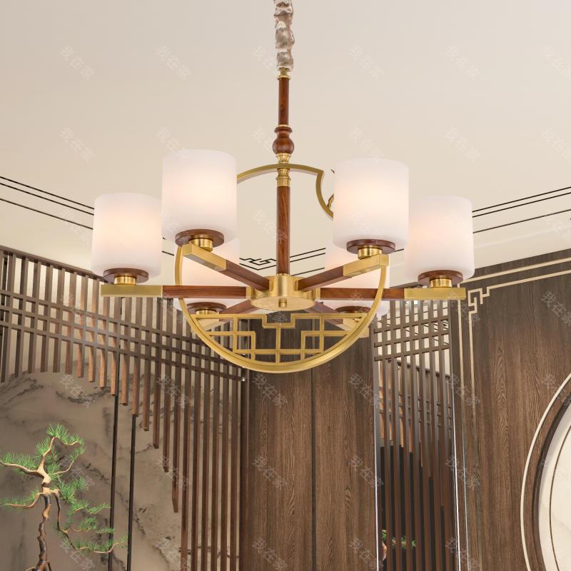 中式灯品牌新中式窗花客厅吊灯