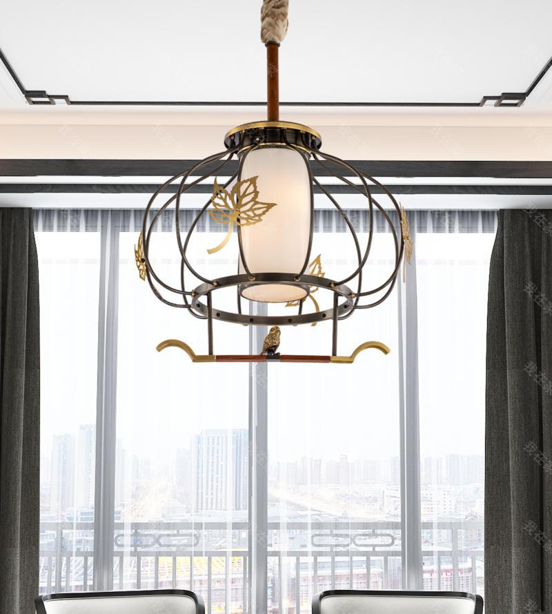 中式灯品牌林间新中式吊灯