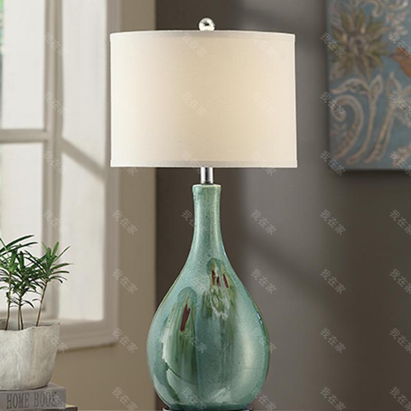 中式风格云烟陶瓷床头台灯