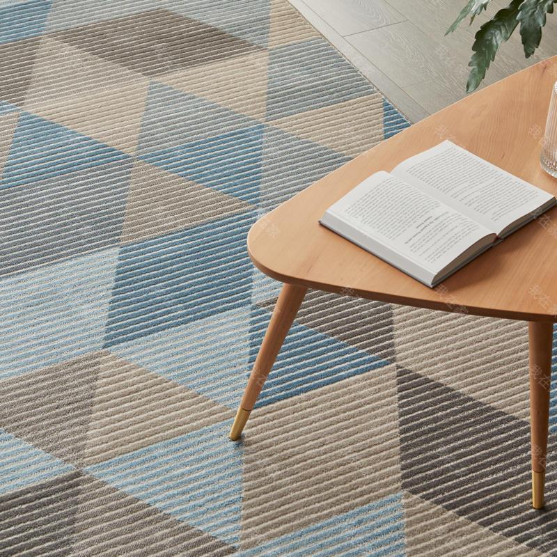 现代简约风格简约几何机织地毯
