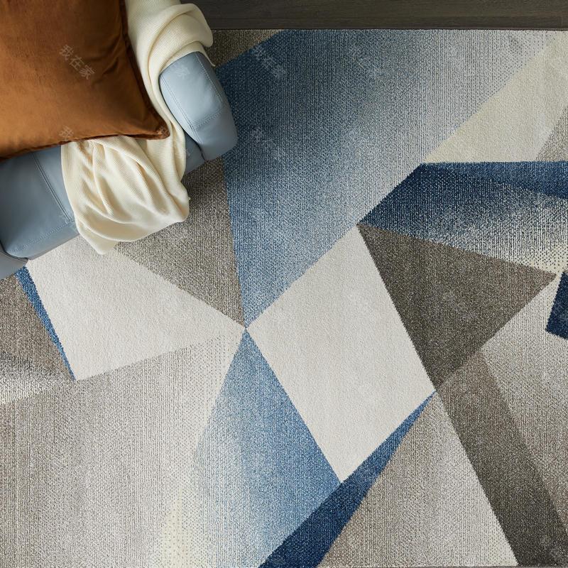 地毯品牌拼色折纸机织地毯
