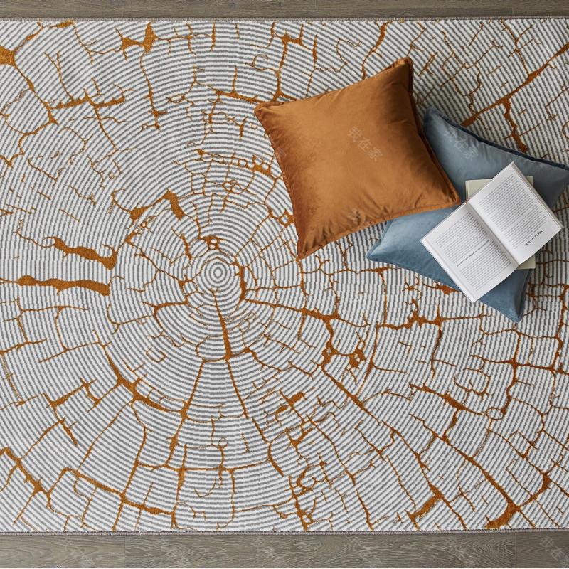 地毯品牌抽象螺旋纹机织地毯