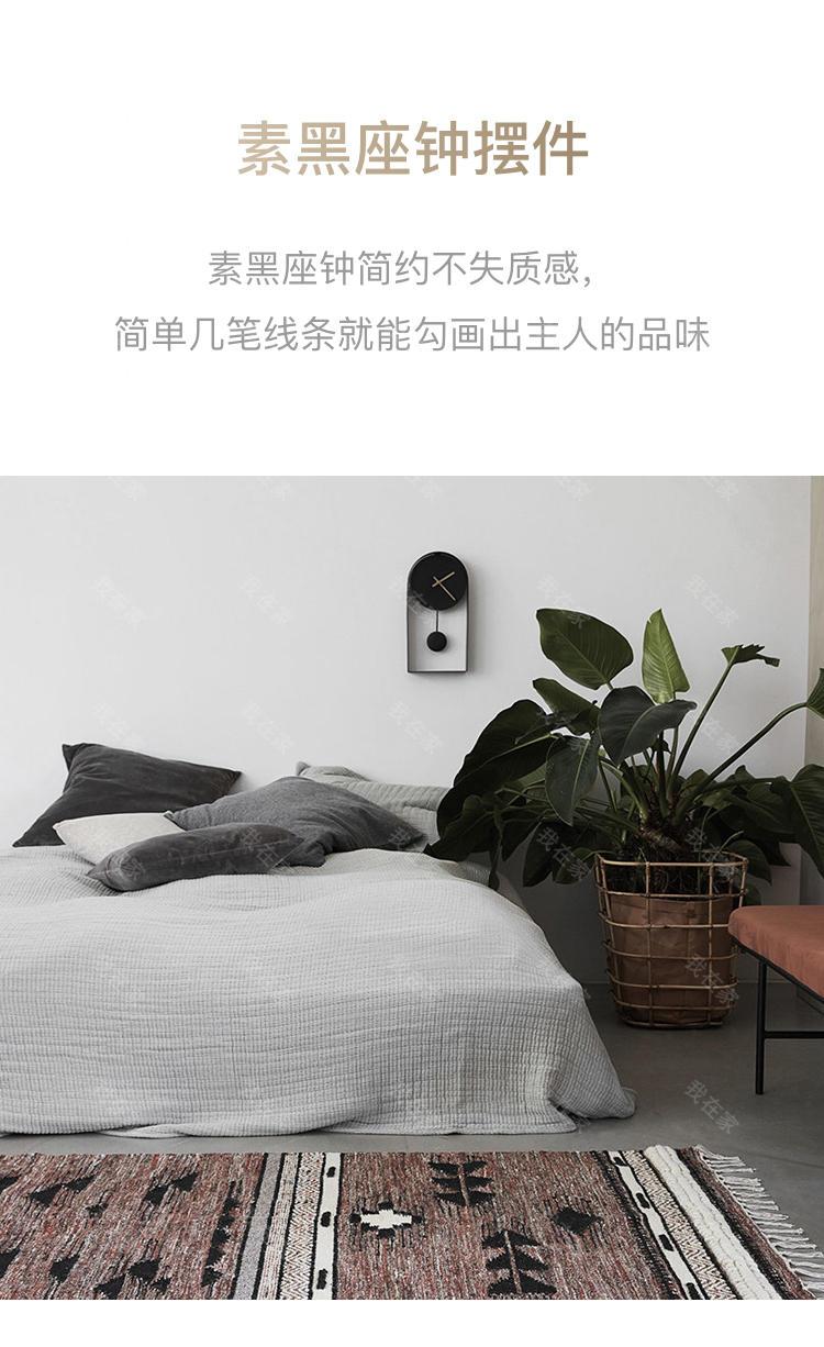 bela DESIGN品牌素黑座钟摆件的详细介绍
