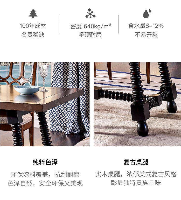 现代美式风格珍尼斯餐桌(样品特惠)的家具详细介绍