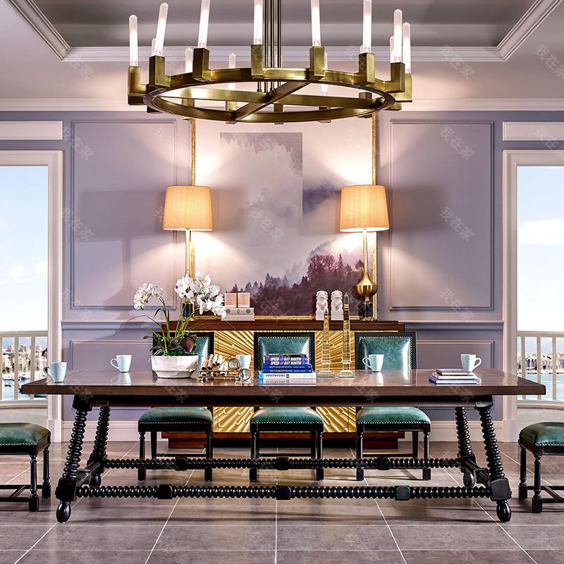 现代美式风格珍尼斯餐桌(样品特惠)
