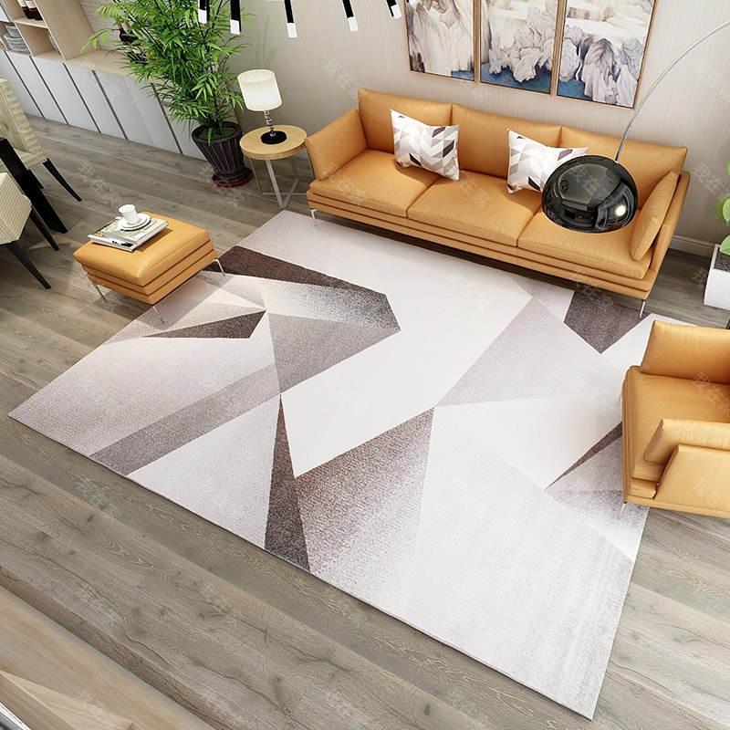 现代简约风格抽象几何机织地毯