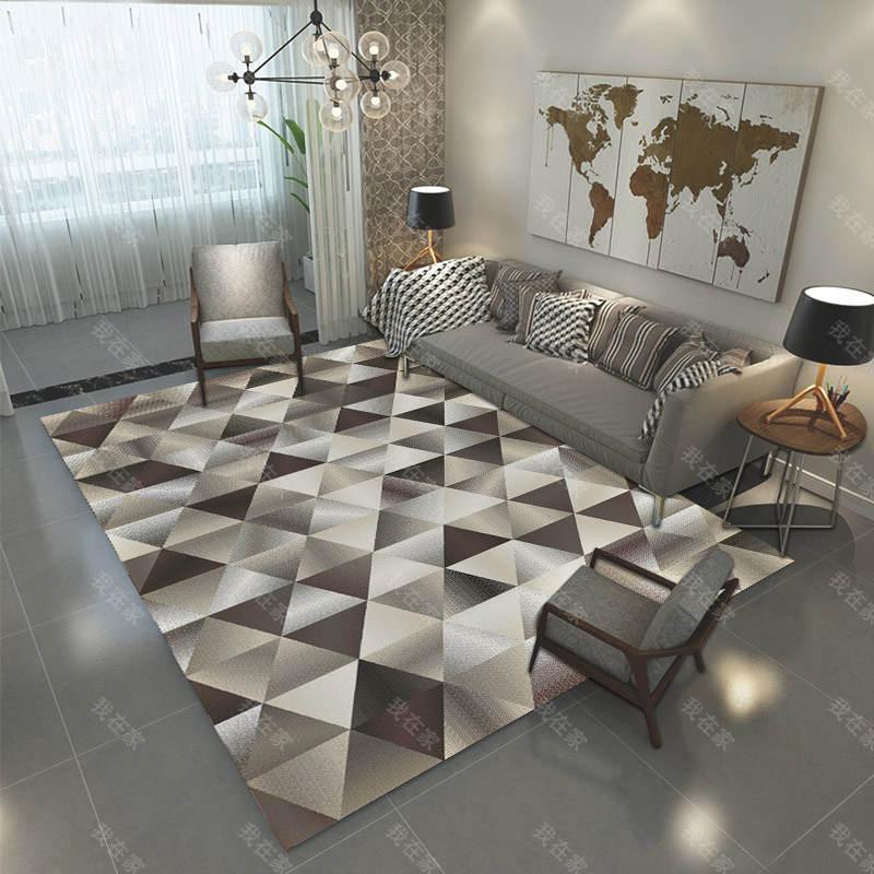 地毯品牌三角图形排列机织地毯