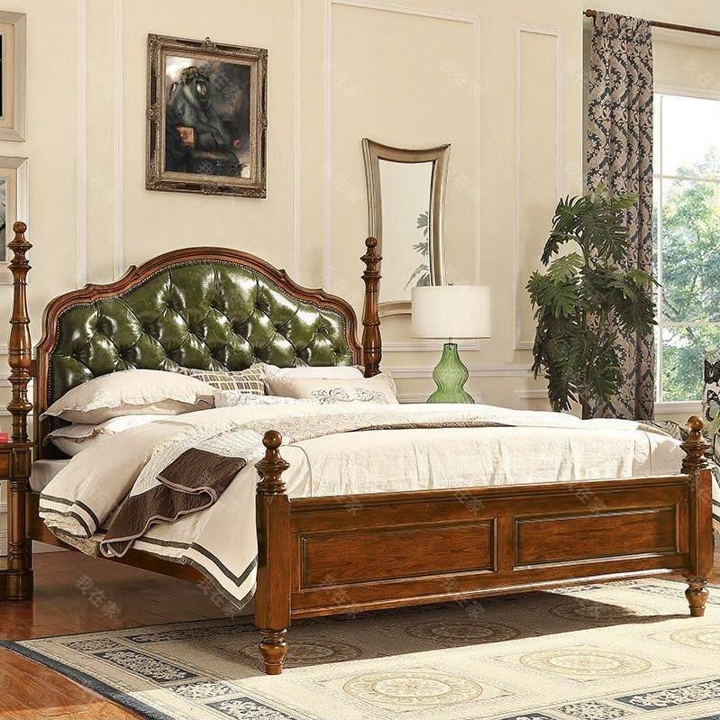 传统美式风格卡隆双人床
