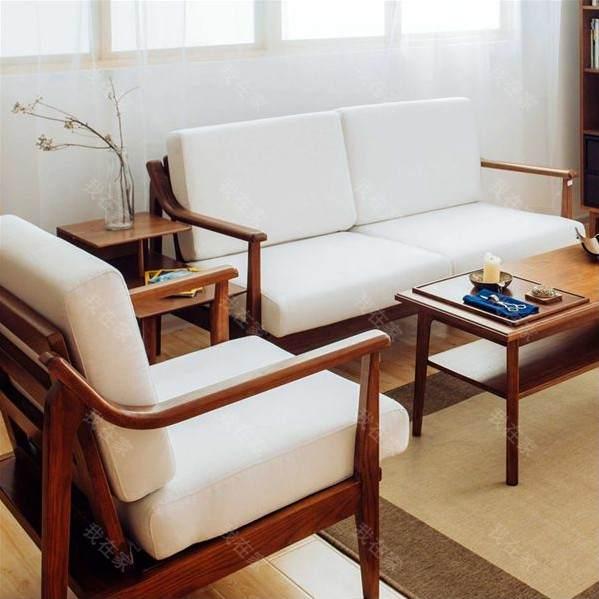 新中式风格木筵沙发