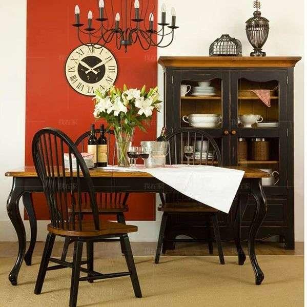 乡村美式风格温斯顿推拉餐桌
