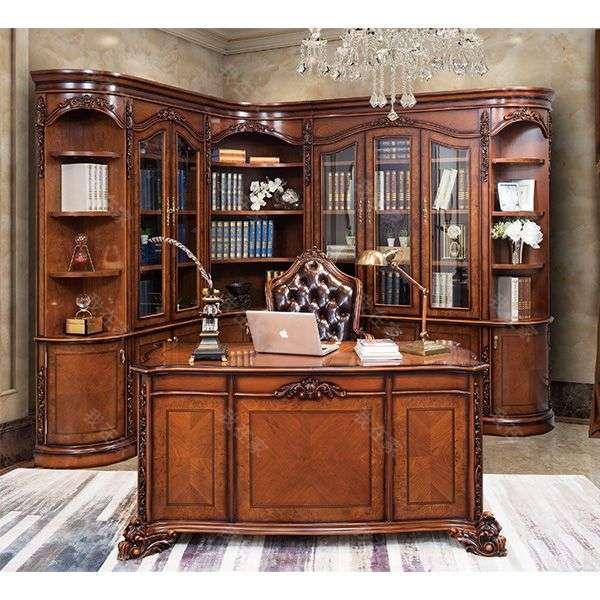古典欧式风格卡莱尔组合书柜