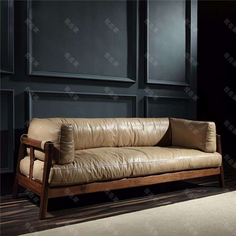 原木北欧风格倚尚沙发
