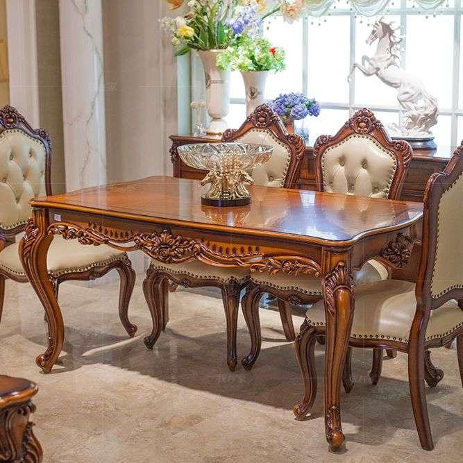 古典欧式风格弗莱格勒餐桌