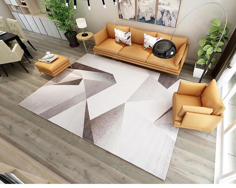 现代简约风格抽象几何机织地毯的家具详细介绍