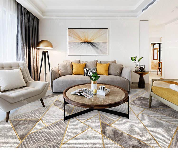 现代简约风格轻奢几何地毯的家具详细介绍