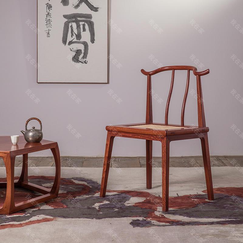 新中式风格天地翘头椅
