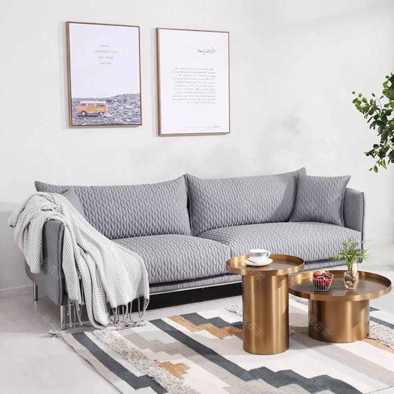 色彩北欧风格麦穗沙发