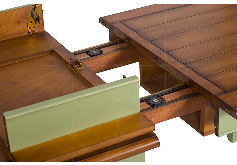 乡村美式风格温斯顿推拉餐桌的家具详细介绍