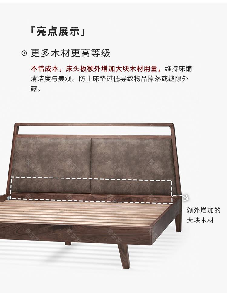 原木北欧风格留白双人床的家具详细介绍