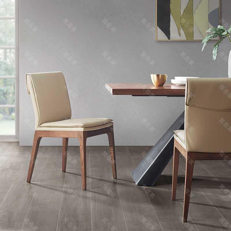 原木北欧风格扬沐餐椅