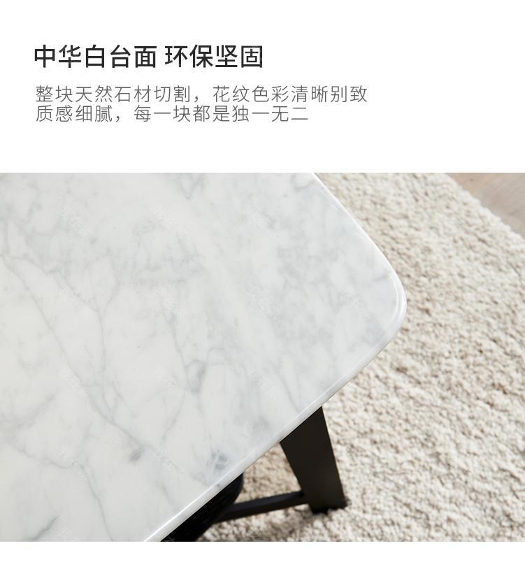 意式极简风格新主题大理石茶几的家具详细介绍