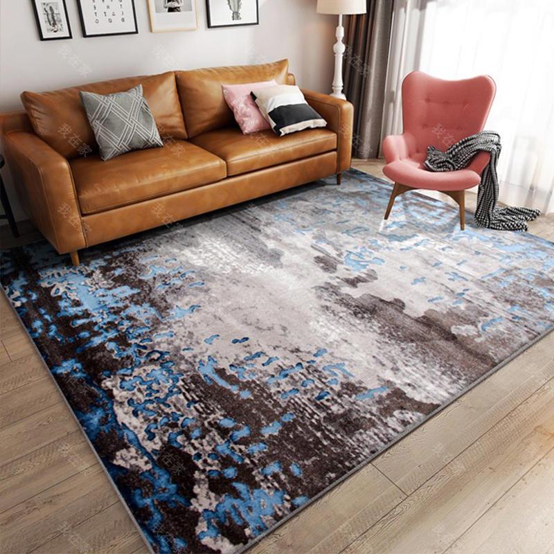 地毯品牌抽象斑驳纹机织地毯