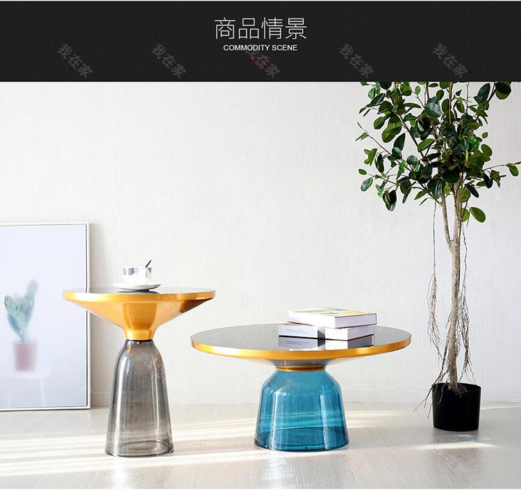 色彩北欧风格叮当琉璃高款茶几的家具详细介绍