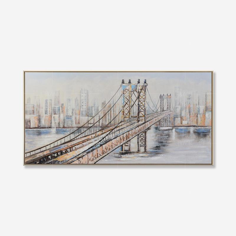 绘美映画系列印象布鲁克林 手绘挂画