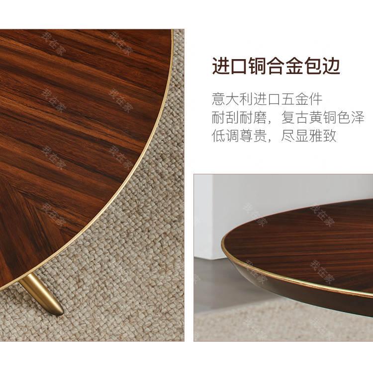 轻奢美式风格塔影圆茶几(样品特惠)的家具详细介绍
