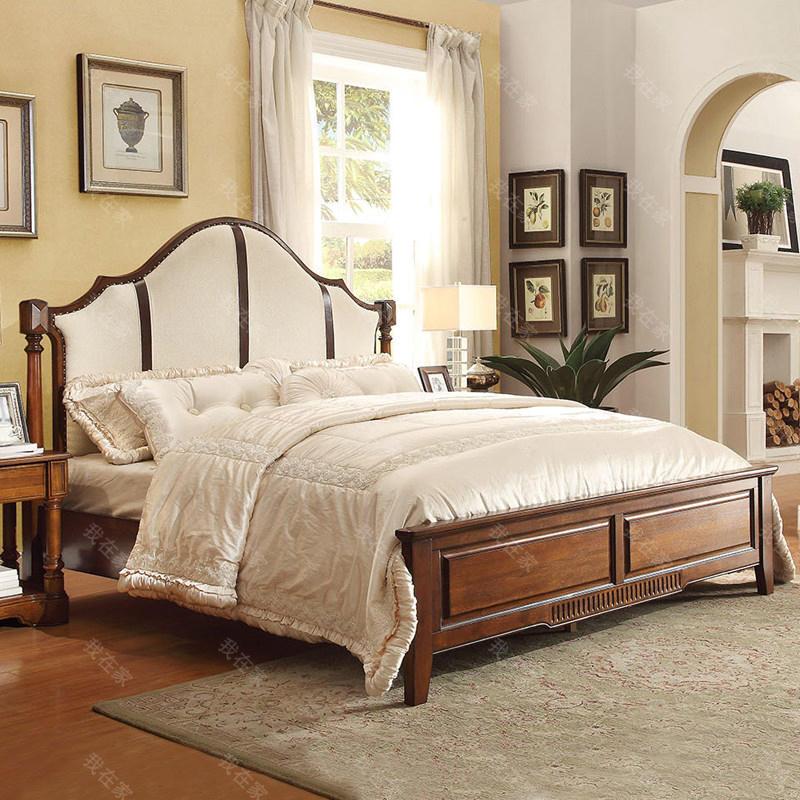 传统美式风格弗林特软靠床