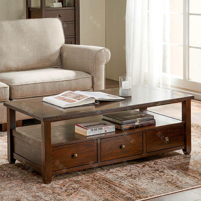 简约美式风格阿曼达咖啡桌