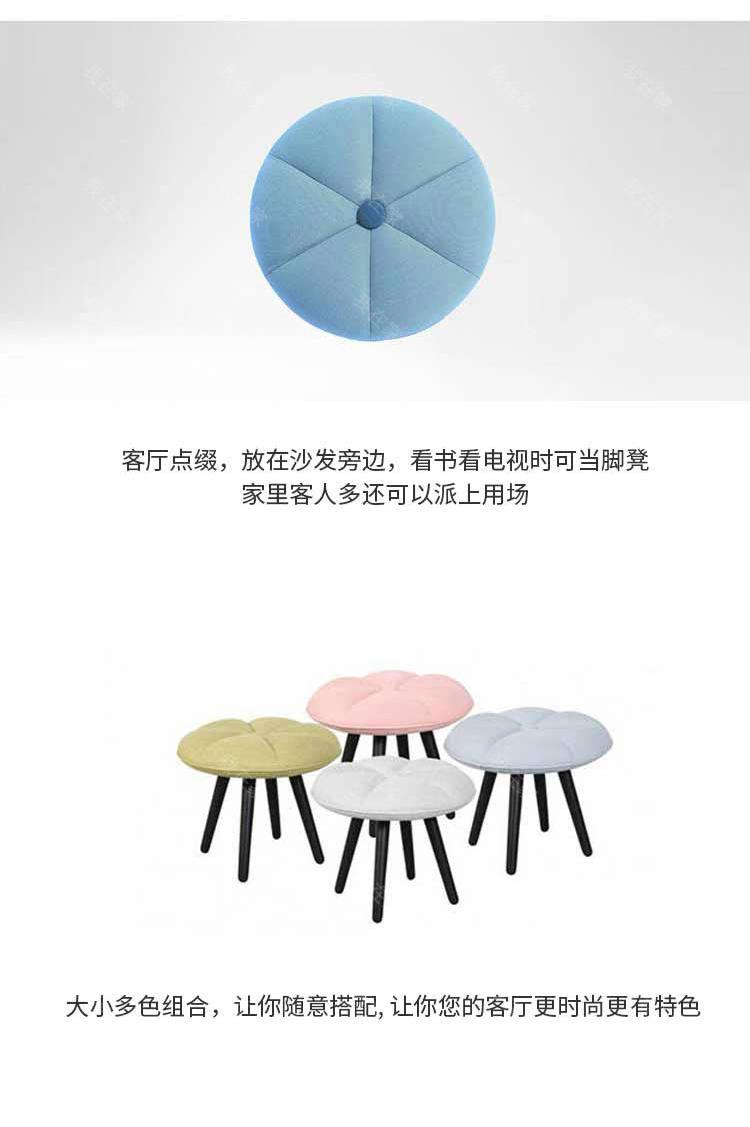 色彩北欧风格Q版南瓜凳(样品特惠)的家具详细介绍