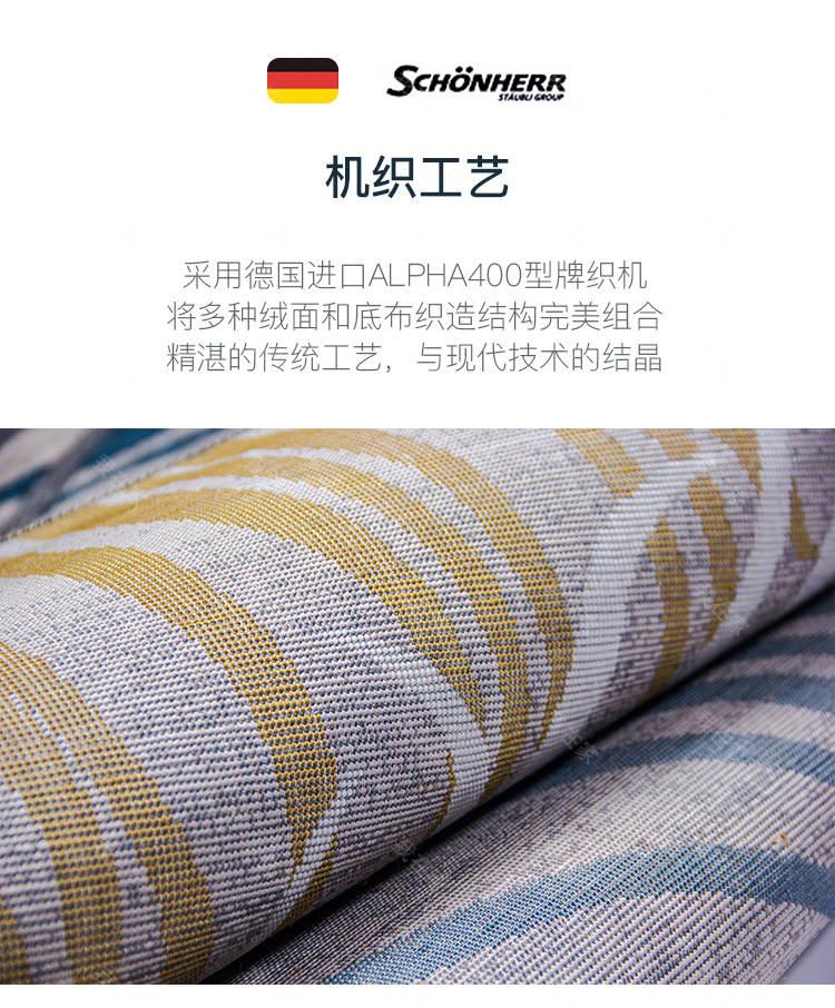 地毯品牌抽象动感线条机织地毯的详细介绍