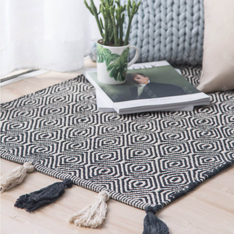 纳谷品牌印度风手工编织地毯